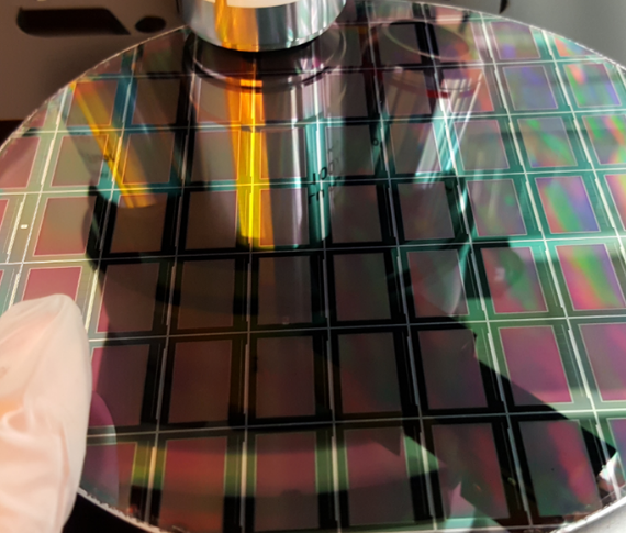 Plessey microLED Wafer